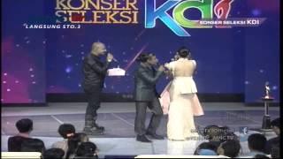Husein Idol Member Kue Spesial Buat Ayu Ting Ting - Konser Seleksi KDI 2015 (30/3)