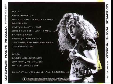 LED ZEPPELIN LIVE PRESTON 1973/01/30