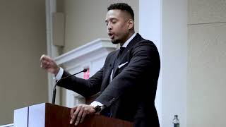 Civil Rights Attorney Justin Moore speaks at SMU Law School