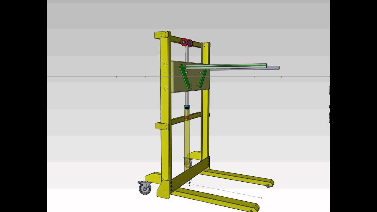 Solidworks Dise 241 O De Elevador Capacidad De Carga 300kl Youtube
