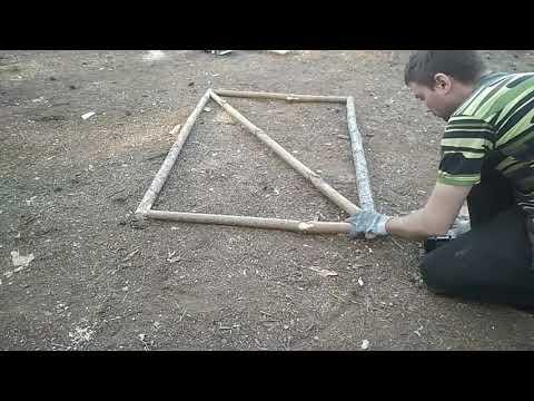 Как просто сделать калитку из сетки рабица своими руками