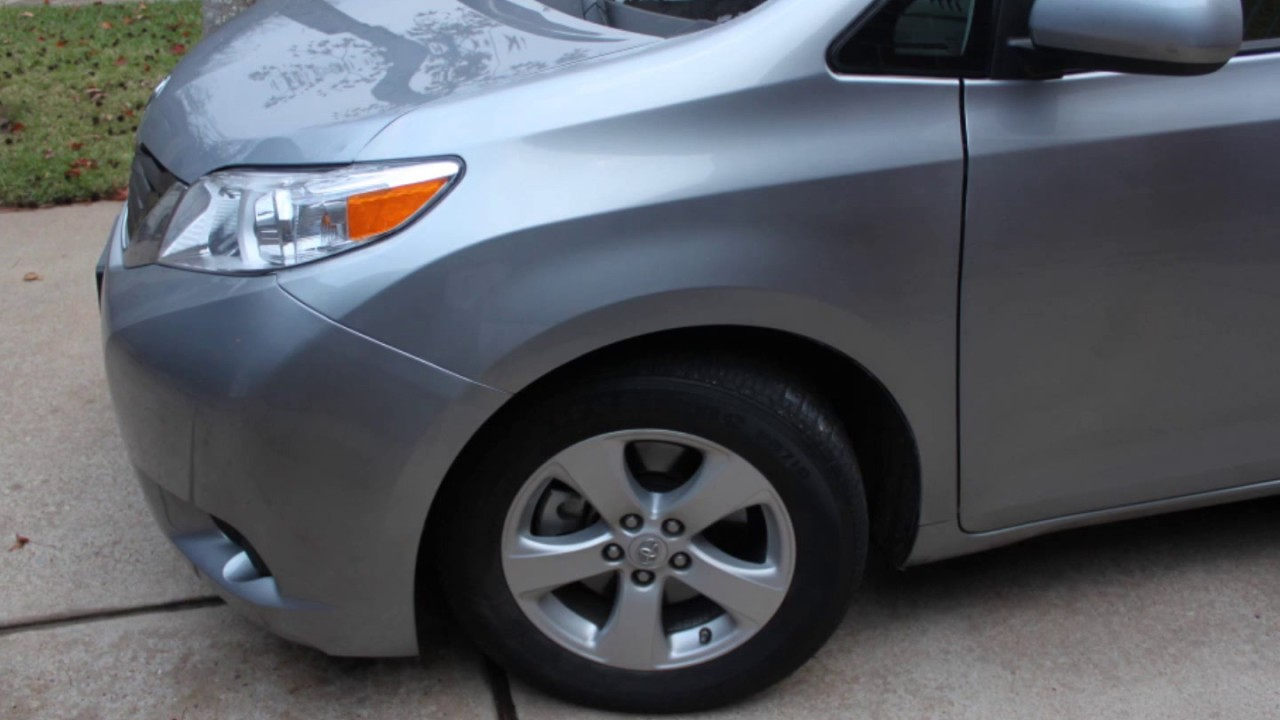 Toyota 2011 Sienna How To Remove Front Fender Youtube