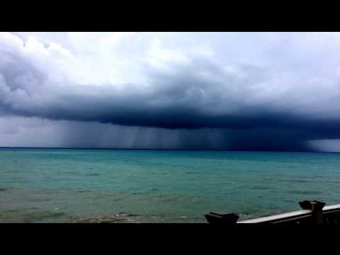 inclement weather at st.thomas virgin islands after Irma