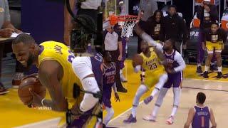 LeBron James Shocks Lakers Bench After Clowning Jae Crowder   Lakers Vs Suns