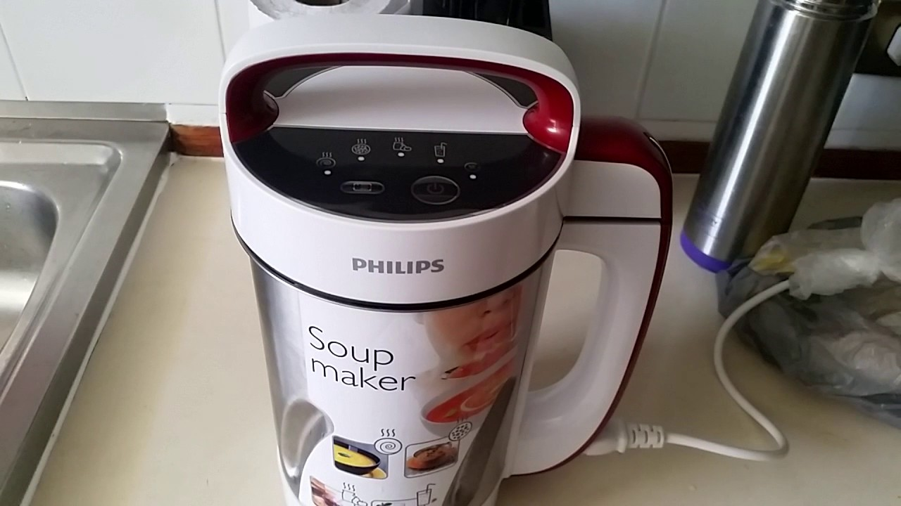 Philips soup maker youtube - Soup maker philips recettes ...