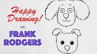How to Draw-Einfache Cartoon-Hund Gesichter - Darstellung Live mit Frank Rodgers