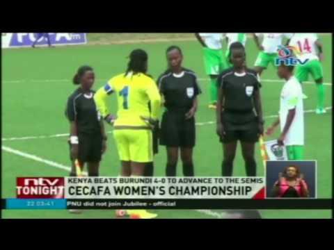 Kenya beats Burundi 4-0 to advance to the Semis
