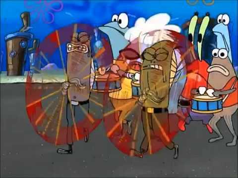 Spongebob Squarepants - Flag Twirlers Explosion
