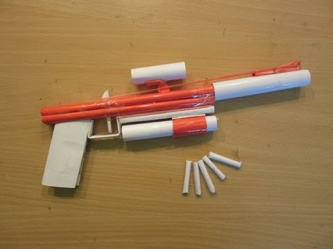 How to Make a Paper Gun That Shoots Paper Bullets with Flashlight - Easy Tutorials