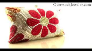 Austrian Crystal Multi-Color Spring Flower Evening Bag Inspired by Designer