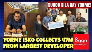 Mayor ISKO collects from largest developer in Tondo
