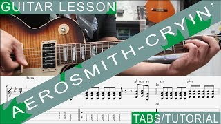 Aerosmith Cryin COMPLETE Guitar Lesson Solo Chords Riffs Licks Harmonica Guitarra