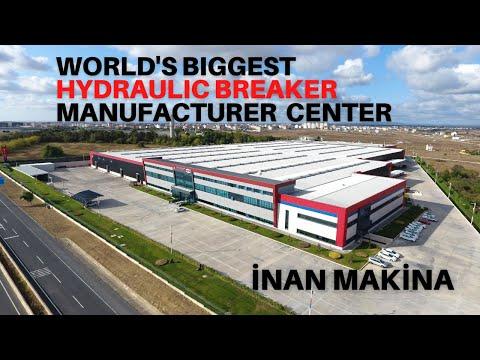 Dünyanın en büyük hidrolik kırıcı üretim merkezi Türkiye'de: İNAN MAKİNA