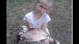 Белоярка. Рыбалка с дочкой на фидер 23-24.07.2016
