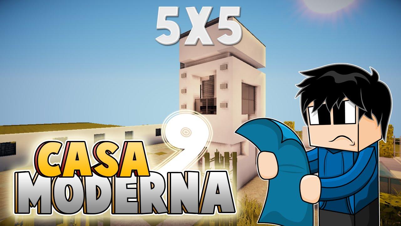 Minecraft vamos a construir casa moderna 9 5x5 reto for Casa moderna 5x5 minecraft