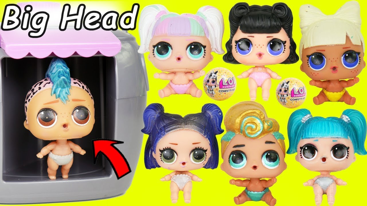 LOL Surprise Dolls + Lil Sisters Mix Wrong Big Heads and ...