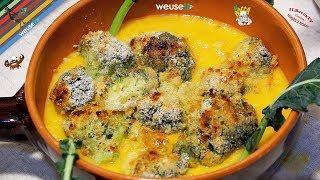 168 - Crema di zucca e broccoli gratinati...e poi in casa barricati (piatto vegetariano equilibrato)
