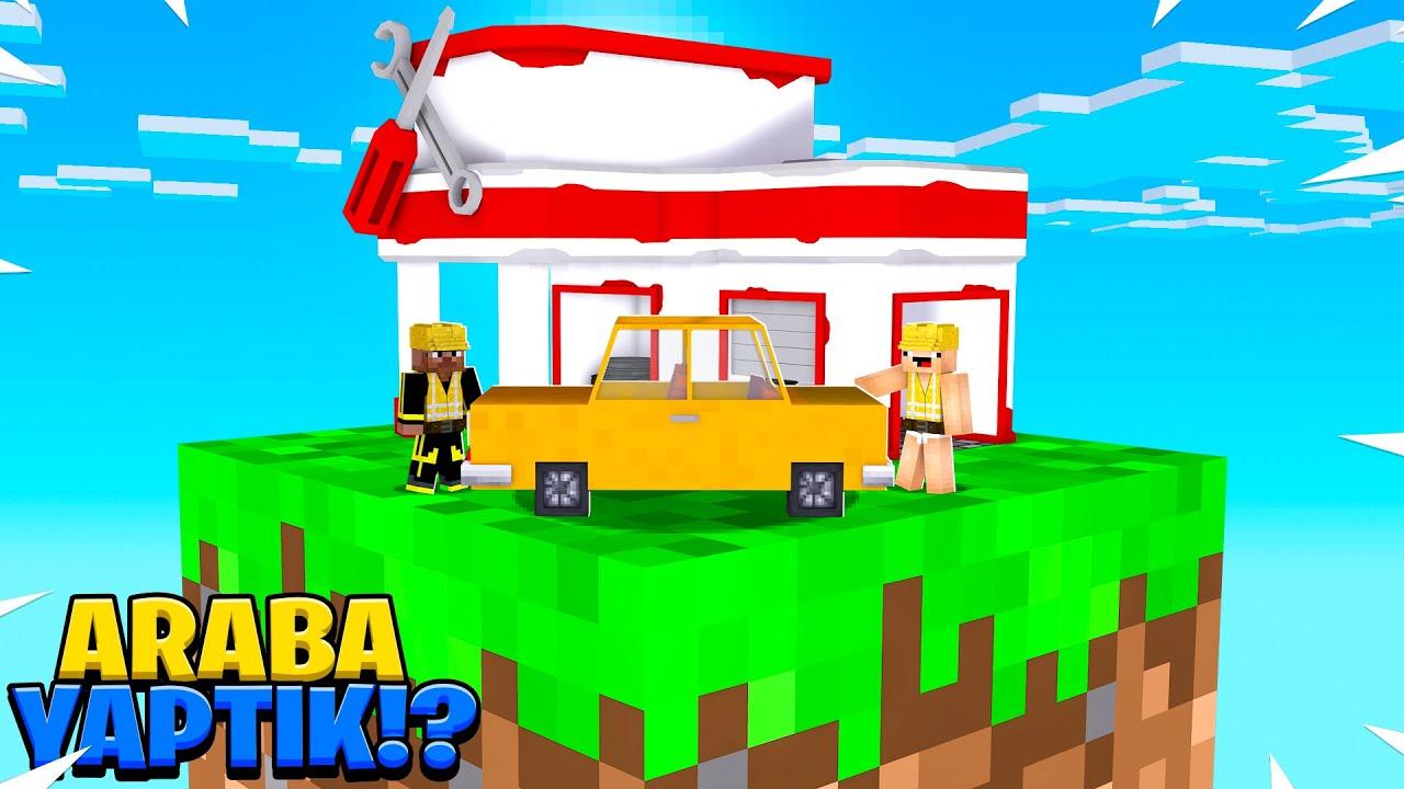 KEKO İLE TEK BLOKTA ARABA YAPTIK  ! 😱 - Minecraft