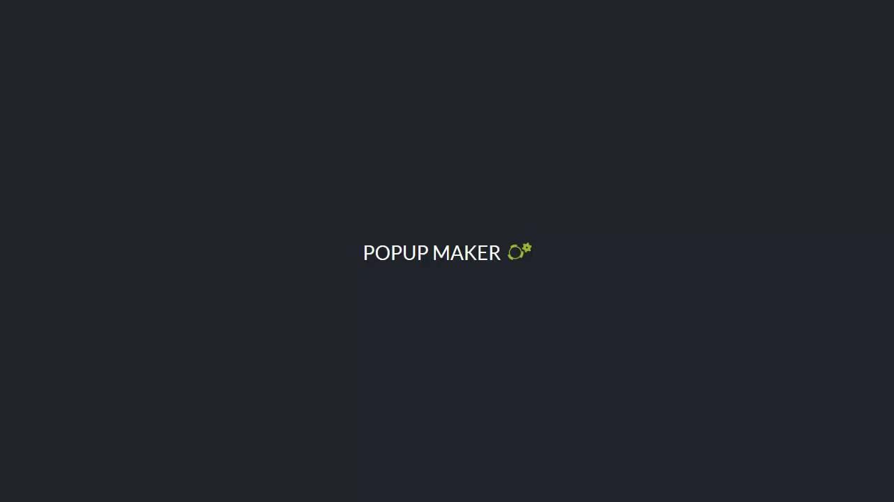 Popup Close Button Shortcode using Popup Maker