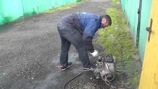 Запуск двигателя мотороллера муравей
