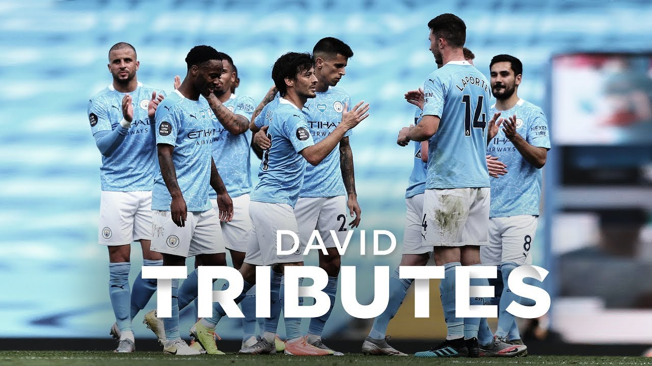DAVID SILVA | Kompany, Toure, Aguero, Dzeko and fans pay tribute