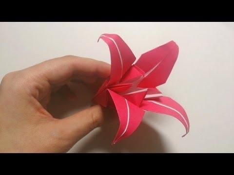 折り紙の : 折り紙 ゆり 折り方 : youtube.com