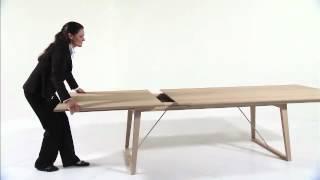 Modern Danish Living Dining Table Product Demonstration From Wharfside