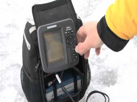 humminbird 385ci gps, sonar and flasher use on the ice - youtube, Fish Finder