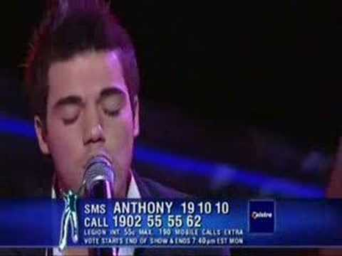 Back At One by Brian McKnight sung by Anthony Callea  2004