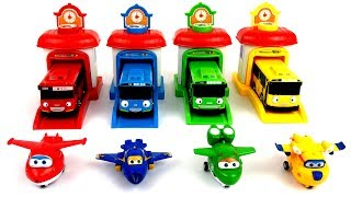 Learn Color With Tayo Little Bus & Super Wings ( Kids Fun Toy Time )