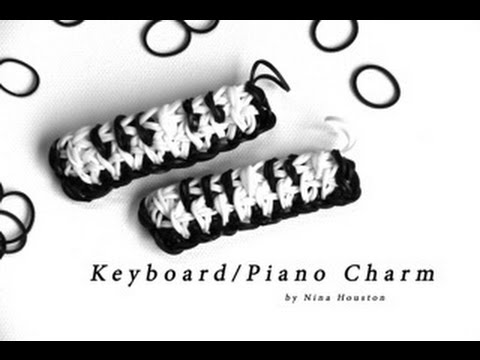 Rainbow Loom - Keyboard/Piano Charm - English Tutorial (Original Design) - Loom bands