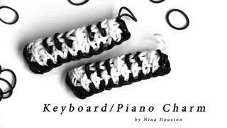 Rainbow Loom - Keyboard/Piano Charm - English Tutorial (Original Design) - Loom bands