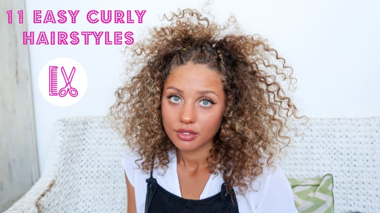 11 Easy Curly Hairstyles For Short Curly Hair
