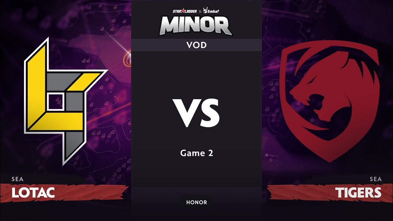 [RU] Lotac vs Tigers, Game 2, SEA Qualifier, StarLadder ImbaTV Dota 2 Minor