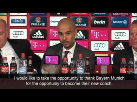 Pep Guardiola sails past language barrier at Bayern unveiling