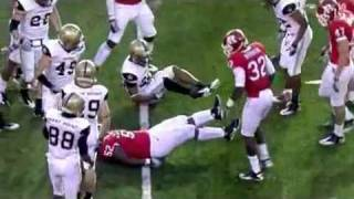 Eric LeGrand paralyzed from Neck Down Rutgers vs Army