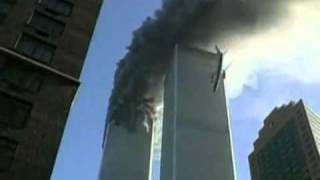 9/11 Flight 175 hitting the South Tower (explanation why wing disappears below)