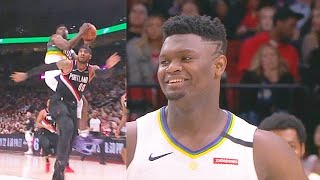 Zion Williamson Destroys Carmelo Anthony Then Carmelo Schools Him! Pelicans Vs Blazers