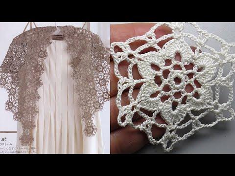 Платья крючком из цветочных мотивов