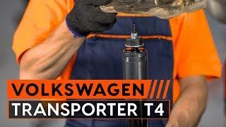 Oglejte si video vodič, kako zamenjati Blažilnik na VW TRANSPORTER IV Bus (70XB, 70XC, 7DB, 7DW)