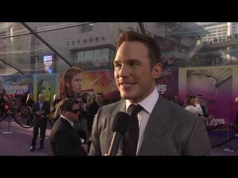 Guardians of the Galaxy Vol  2  Chris Pratt 'Peter Quill' Red Carpet Movie Premiere Interview