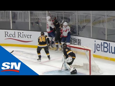 Tom Wilson Hits Bruins' Brandon Carlo With Dangerous Hit Against The Glass - SPORTSNET