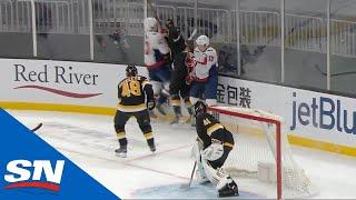<b>Tom Wilson</b> Hits Bruins' Brandon Carlo With Dangerous Hit Against ...