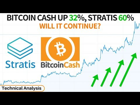 Bitcoin Cash up 32%, Stratis 60% - BCH, STRAT & ETH Technical Analysis