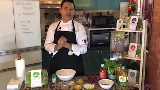 Vegetory's Salad with Pomegranate & Dressing