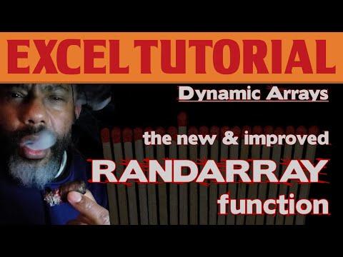 The New & Improved RANDARRAY Dynamic Array Function