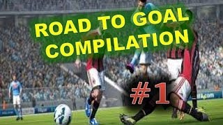 BEST FREE PACK EVER OMG!! - ROAD TO GOAL COMPILATION #1 - FIFA 14 ULTIMATE TEAM