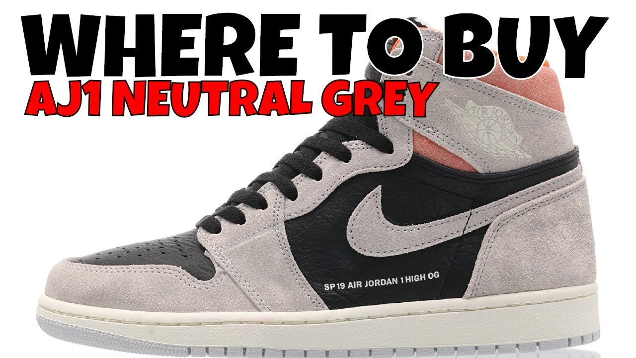 Sp19 GreyHow High 1 Air Neutral Cop To Jordan Crimson Buy Retro Where Hyper q5Rjc3A4L