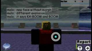 new face and explosion in ROBLOX