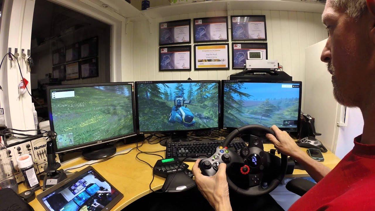 Farmer Simulator 2015 Triple Screen Ponsse Youtube